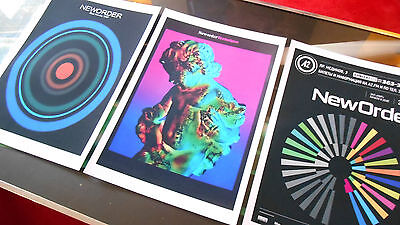 New Order set of three posters A3 best quality heavy canvas paper
