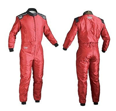 OMP Karting Suit Youth , Size 150cm, Red