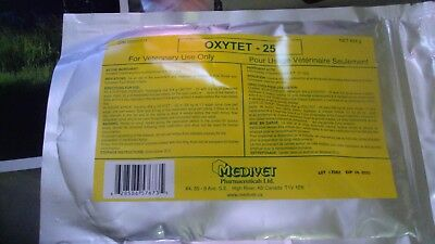 OXYTETRACYCLINE HCL SOLUBLE POWDER A BROAD SPECTRUM ANTIBIOTIC DOUBLE SIZE 454g