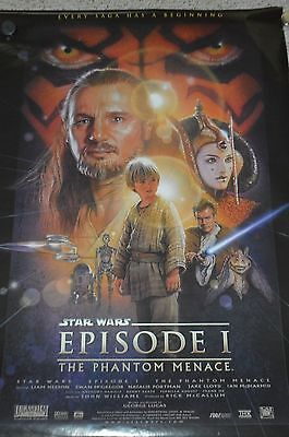 """Star Wars: Episode 1 The Phantom Menace Movie Poster – 24"""" x 36"""" New Old Stock"""