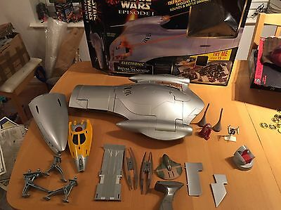 Star Wars Episode 1 Electronic Naboo Royal Starship Complete Boxed Spaceship