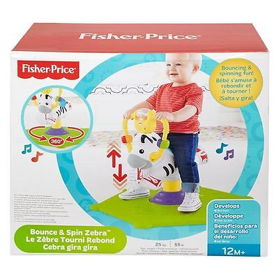 Fisher-Price Bounce 'N Spin Zebra - 360 degrees Rocking horse fun * Brand New *