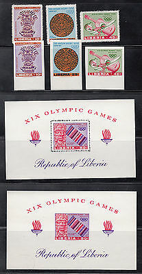 Liberia # 461-63 C177 BOTH Perf & IMPERF MNH Mexico Olympics Sports