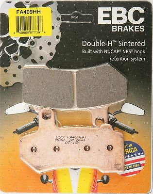 Ebc Double-H Sintered Front Or Rear Brake Pads Single Set For Harley Fa409Hh