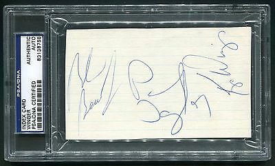 Winger Band Signed Index Card Kip Reb Beach Paul Taylor Heavy Metal Psa/dna