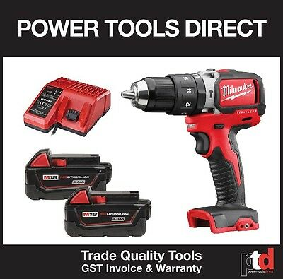 New Milwaukee 18V Cordless M18Blpd-0 Hammer Drill Brushless Kit - 3Amp Batt