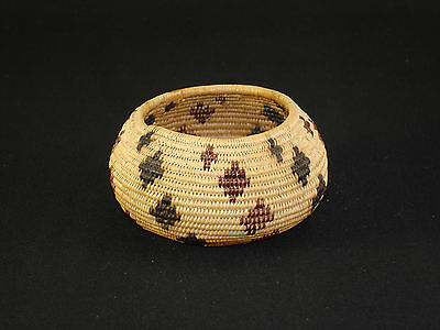 A Fine Washoe Polychrome Degikup Basket, Native American Indian, Circa: 1910