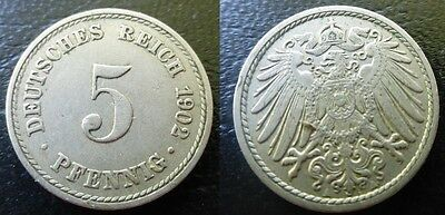 Germany – 5 Pfennig 1902 A – Allemagne Empire