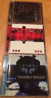 Theatre Of Tragedy 3CD LOT ['mju:zik] Assembly Storm the sins of thy beloved