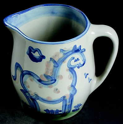 M A Hadley COUNTRY SCENE BLUE Horse 16 Oz Pitcher 2242320