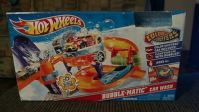 Hot Wheels Bubble-Matic Car Wash MISSING CAR Color Shifters Motorized NEW