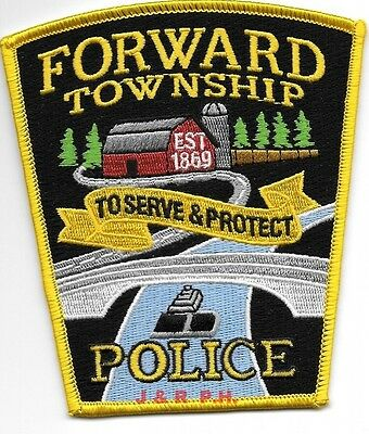 """Forward Township, PA  1869 (4"""" x 4.5"""" size)  shoulder police patch (fire)"""