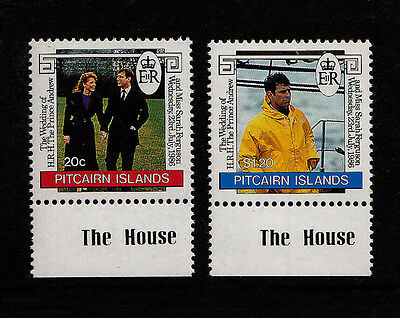 PITCAIRN ISLANDS - Scott 275-276 - 1986 Prince Andrew Royal Wedding - MNH