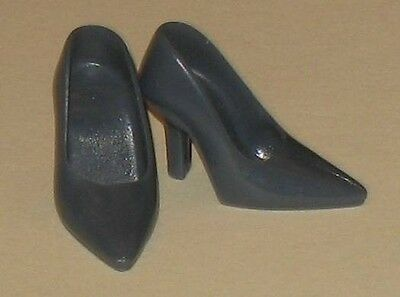 Vintage Barbie Repro-Randall Craig-Grey Closed-Toe Heels Pumps Shoes-Mint