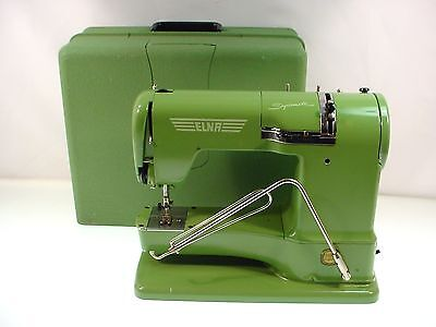 Vintage Elna Supermatic Sewing Machine Type 722010 Clean Works  Dated 1955