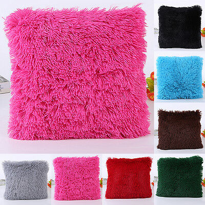 Fluffy Plush Pillow Case Luxury Cases Housewife Pillow Cover Sofa Home Cushion
