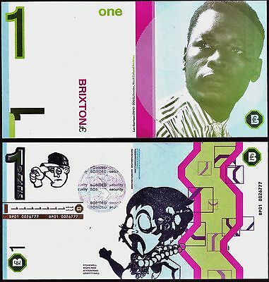 England- Brixton- £1 Local-only Banknote with updated design, see detailed scans