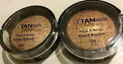2x MILANI Tantastic All Over Baked Bronzer - 01 Fantastic in Gold