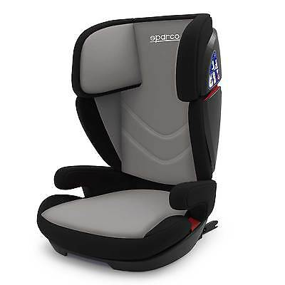 Sparco F700i Child/Kids/Childrens Car Seat Group 2/3 - 4-12 Years - Grey/Black