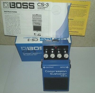 BOSS Model CS-3 COMPRESSION SUSTAINER PEDAL          NEW!