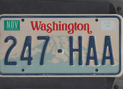 "WASHINGTON passenger license plate ""247-HAA"""
