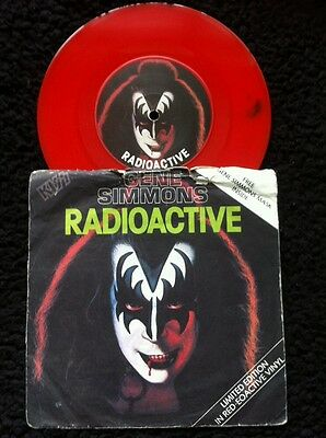 "Gene Simmons (Kiss) - Radioactive Limited Edition 7"" Red Vinyl Casablanca CAN134"