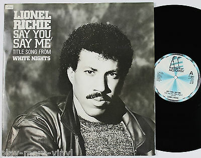 "LIONEL RICHIE Say You Say Me / Can't Slow Down 12"" vinyl UK 1985 Motown"