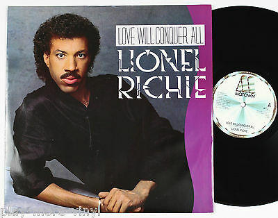 "LIONEL RICHIE Love Will Conquer All 12"" vinyl UK 1986 Motown  plays EX"