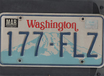 "WASHINGTON passenger license plate ""177-FLZ"""