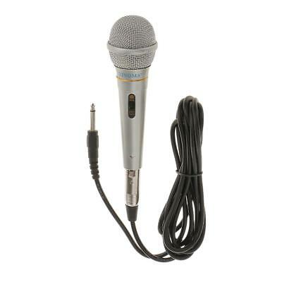 Silver Professional Pure Dynamic Mike Wired Vocal Microphone High Quality