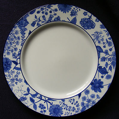 """Royal Stafford Hedgerow Earthenware 11"""" Plate Smart Blue and White - See Photos"""
