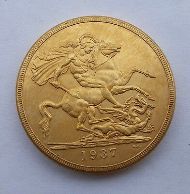George V1 1937 £2 Gold Plated Copy Coin