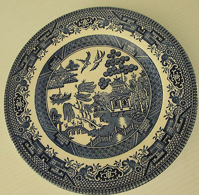 Vintage CHURCHILL Blue Willow England Dinner Plate Large
