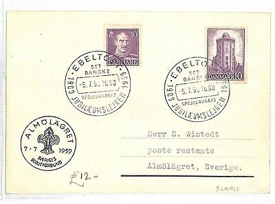 AK72 1959 DENMARK Special Event Cover SCOUTING Cachet SCARCE {samwells-covers}