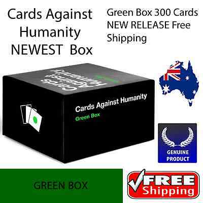 Cards Against Humanity Expansions Green Box 300 Cards NEW RELEASE Free Shipping