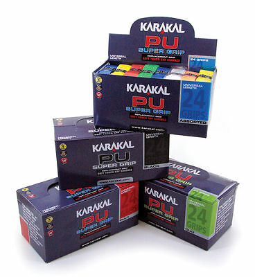 Karakal PU Replacement Grips Squash Tennis Badminton - Box of 24 Grips