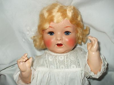 """Large Chubby 18"""" BND baby..1930/40s..Orig Box ..Painted bisque"""