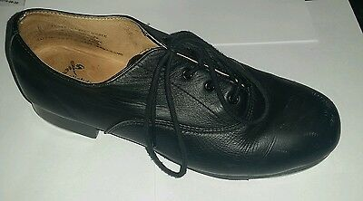 Adults leather lace up OXFORD tap shoes size 8