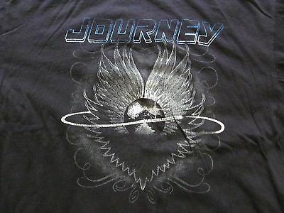 Simple classic JOURNEY Black cotton Band T-shirt, Men's size XL 24.5 in by 29 in
