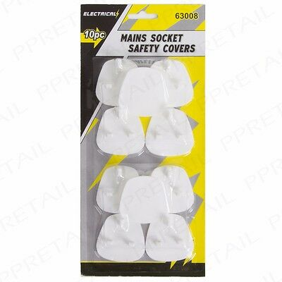 10x ELECTRIC UK SOCKET COVERS Baby/Toddler/Child Safety Plugs 3 Pin Face Plates