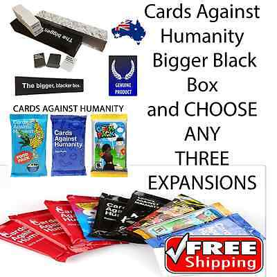 Cards Against Humanity Bigger Blacker Box & Choice of any Three Expansions