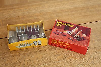 Vintage Unopened Breakfast Set In Original Box Eggcups Toast Rack Salt & Pepper
