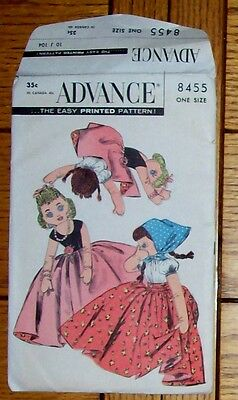 Advance 8455 Turnabout Doll Peasand & Glamour Cloothes Vintage Pattern