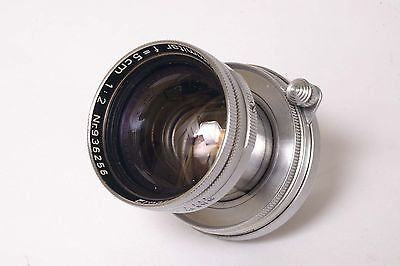 K243~ Leitz Leica 50mm f/2 Summitar M39 Screw Mount Lens Edge Haze Ring