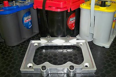 Optima Billet Aluminum Battery Tray Made in USA  BRAND NEW 6061 red yellow blue
