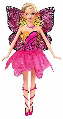 BARBIE MARIPOSA CLASSIC DOLL w Wings Pink Dress Mariposa and the Fairy Princess