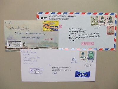 Three Thailand registered covers