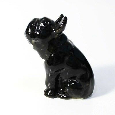 Porcelain figurine Dog - French Bulldog. Handmade. #11-1