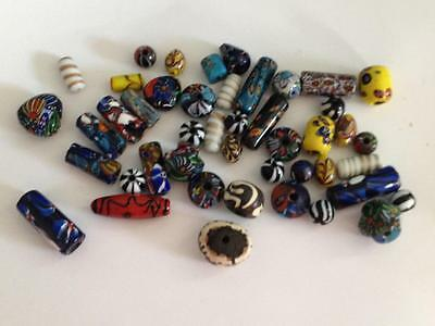 Large Mixed Lot Vintage Trade Beads Glass Pottery