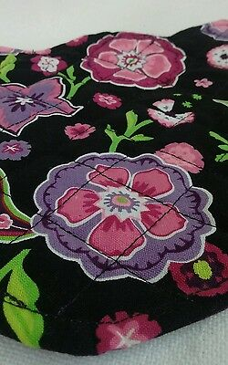 Longaberger CHARMED Purple Quilted Table Topper Runner RETIRED Padded REVERSIBLE